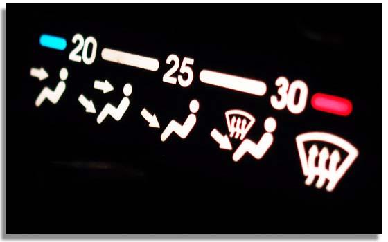 La temperatura interior del coche influye en el consumo.