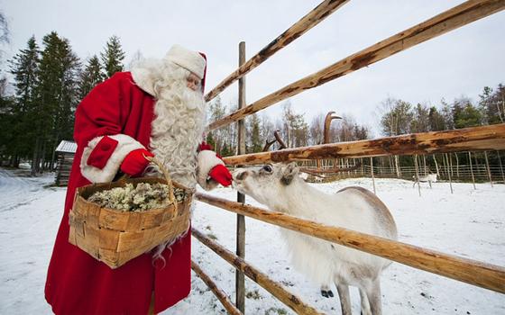 Papá Nöel y Rudolf