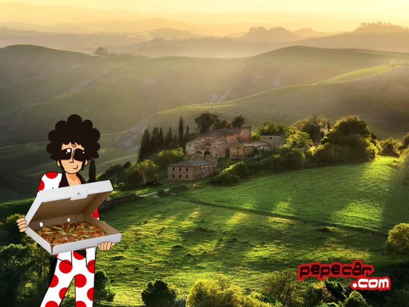 Pepe disfrutando de la Toscana ;)