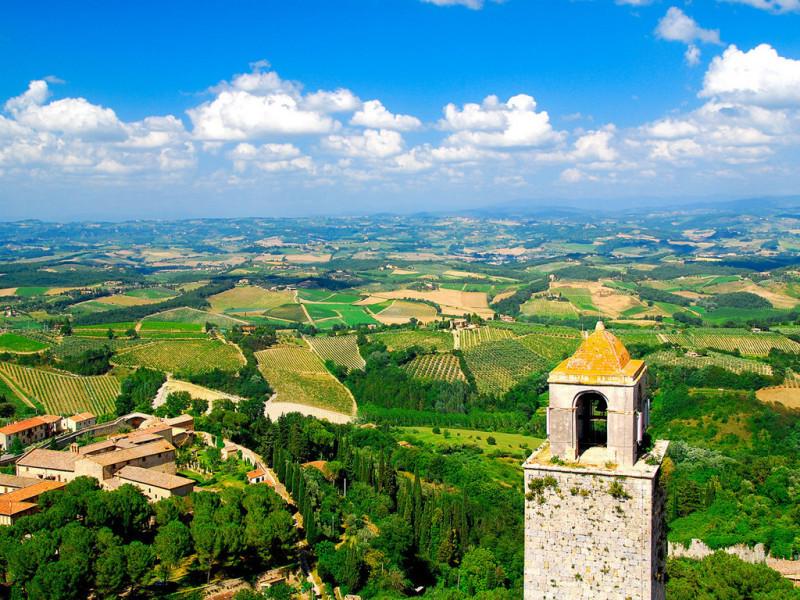 Las vistas de San Gimignano