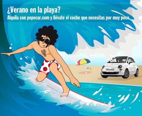 Pepecar: fotos wet madrid. La playa para practicar surf