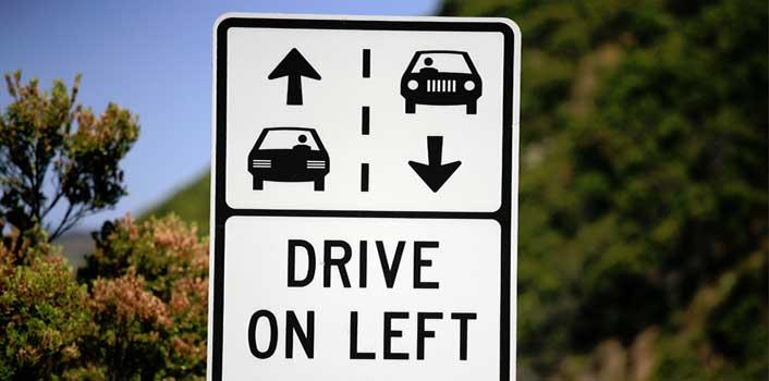 Consejos para conducir por la izquierda, alquiler de coches pepecar