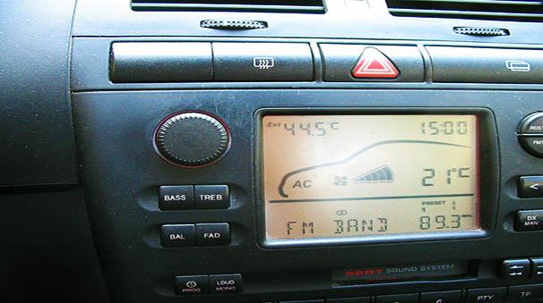 evitar calor en el coche